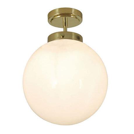 Revive Brass 1 Light Semi-Flush Bathroom Ceiling Light
