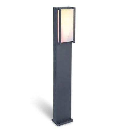 Revive Outdoor Square Dark Grey Bollard Light