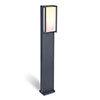 Revive Smart Outdoor Square Dark Grey Bollard Light profile small image view 1