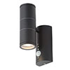 Revive Outdoor Black PIR Up & Down Wall Light profile small image view 1