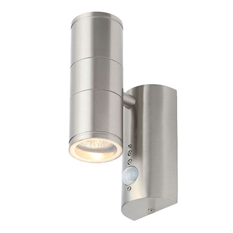 Revive Outdoor Stainless Steel PIR Up & Down Wall Light