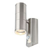 Revive Outdoor Stainless Steel PIR Up & Down Wall Light profile small image view 1