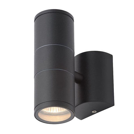 Revive Outdoor Steel Black Up & Down Wall Light
