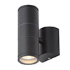 Revive Outdoor Steel Black Up & Down Wall Light profile small image view 1