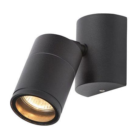 Revive Outdoor Steel Black Wall Spotlight