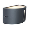Revive Outdoor Half Round Up & Down Dark Grey Wall Light profile small image view 1