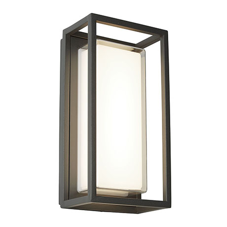 Revive Outdoor Grey Rectangular Box Wall Light