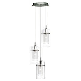 Revive Multi Drop Glass Pendant Light