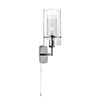 Revive Chrome Wall Light with Glass Tube Shade profile small image view 1