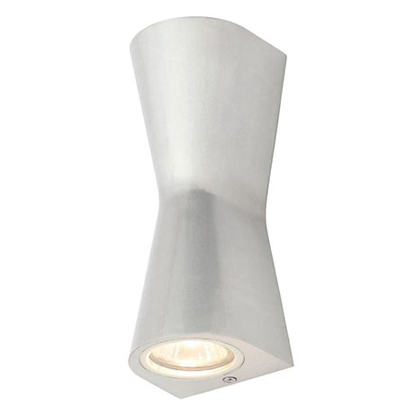 Revive Outdoor Aluminium Double Cone Up & Down Wall Light