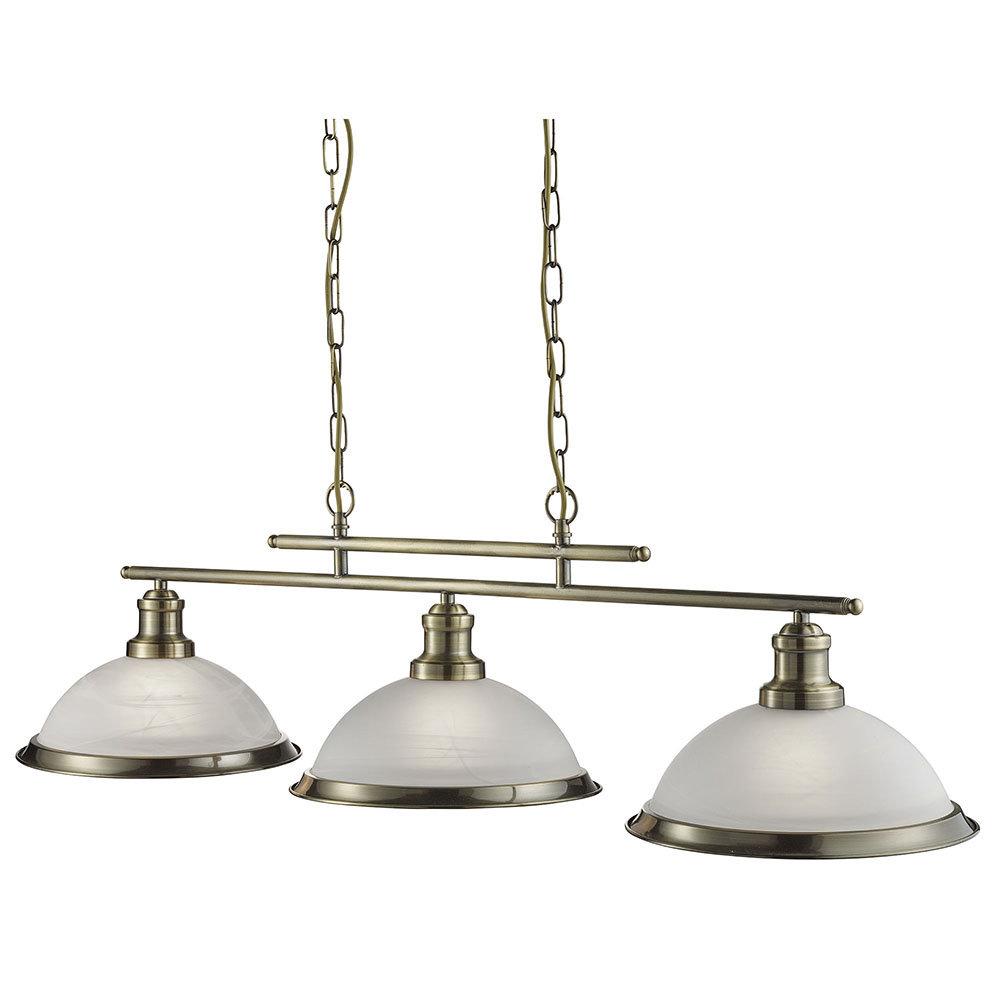 Revive Triple Brass Pendant Light - 3 Light