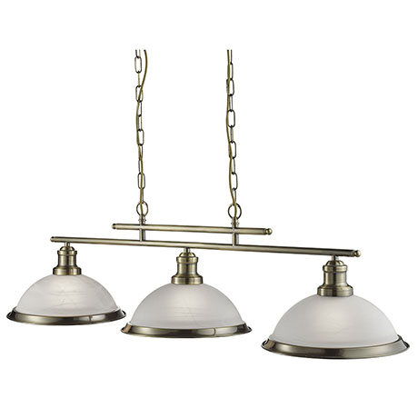 Revive Antique Brass 3 Light Ceiling Bar Pendant