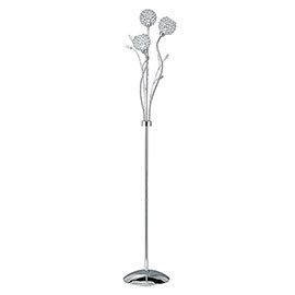 Revive Glass Flower Floor Lamp- 3 Light