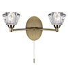 Revive Antique Brass 2 Light Wall Light profile small image view 1