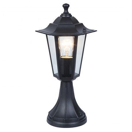 Revive Outdoor Traditional Black Pedestal Lantern