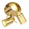 Revive Brass 3 Spot Bathroom Ceiling Light profile small image view 1
