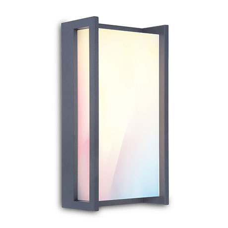Revive Outdoor Square Dark Grey Wall Light