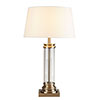 Revive Antique Brass Column Table Lamp with Cream Shade profile small image view 1