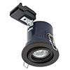 Revive Matt Black Fire Rated Adjustable Downlight profile small image view 1