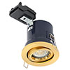 Revive Satin Brass Fire Rated Adjustable Downlight profile small image view 1