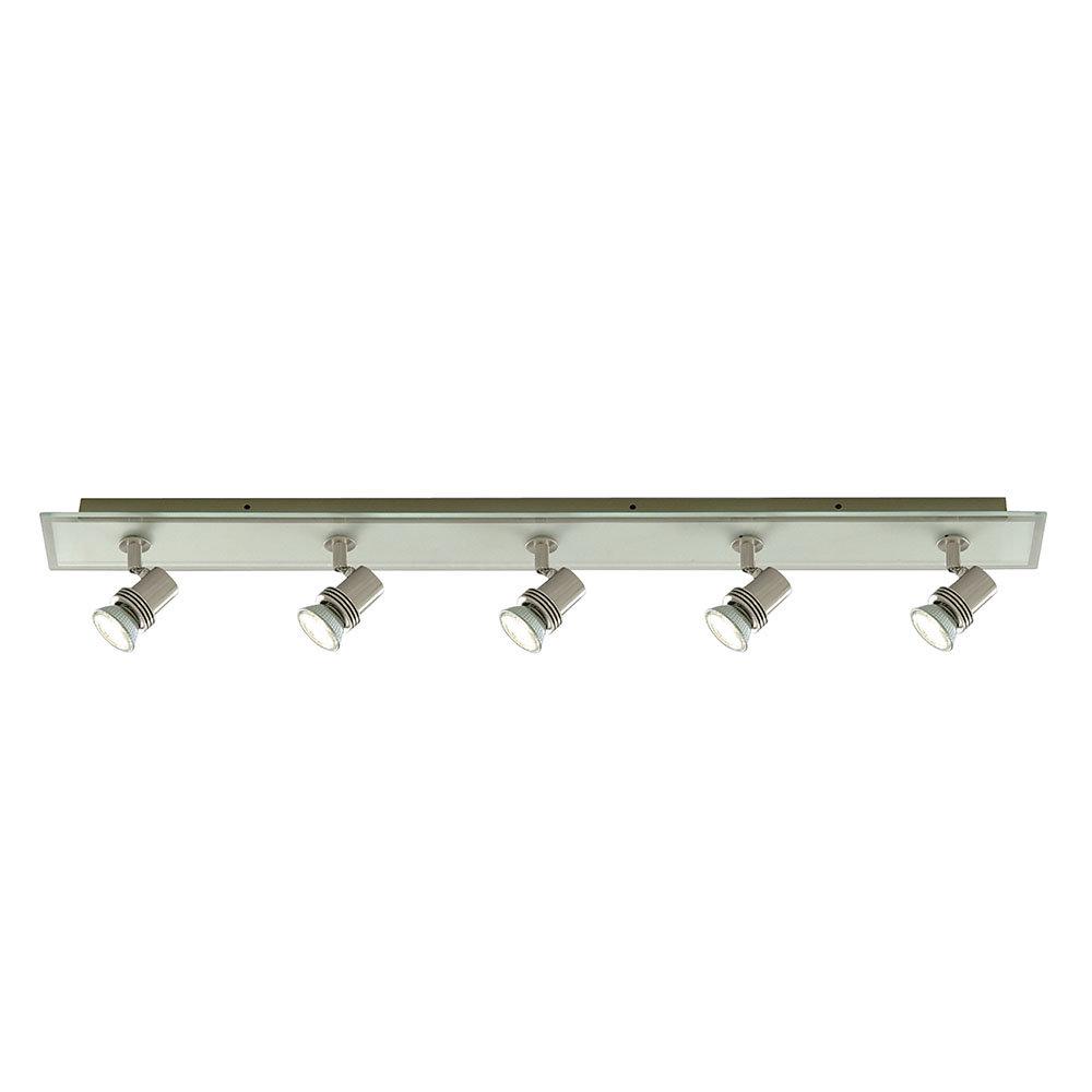 Revive Satin Silver Ceiling Spotlight Bar - 5 Light