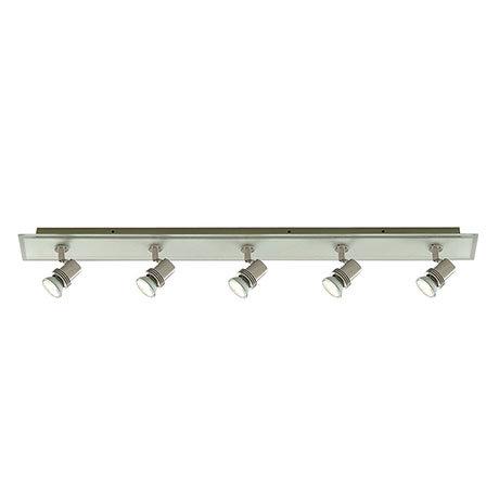 Revive Satin Silver 5 Light Spotlight Bar