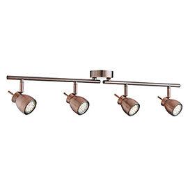 Revive Copper Spotlight Bar - 4 Light Split