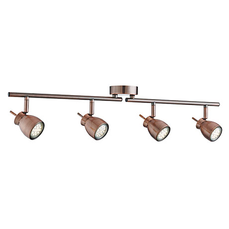 Revive Antique Copper 4 Light Split Spotlight Bar