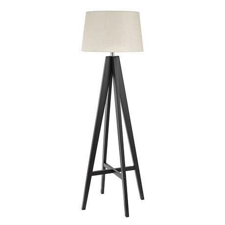 Revive Dark Wood Easel Tripod Floor Lamp