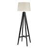 Revive Dark Wood Tripod Floor Lamp profile small image view 1