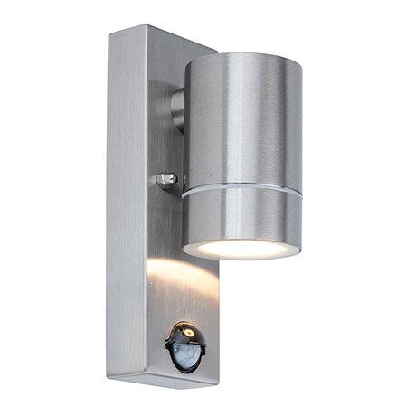 Revive Outdoor PIR Modern Stainless Steel Wall Down Light