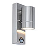 Revive Outdoor PIR Modern Stainless Steel Wall Down Light profile small image view 1
