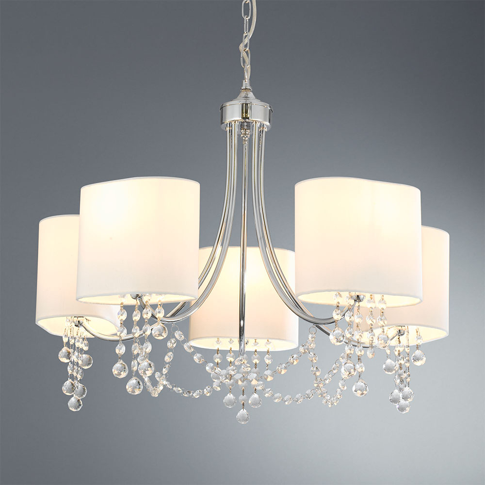 Revive Chrome Ceiling Chandelier - 5 Light