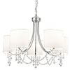 Revive Chrome Ceiling Chandelier - 5 Light profile small image view 1