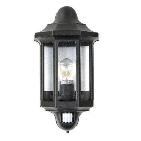 Revive Outdoor Traditional PIR Black Half Coach Lantern