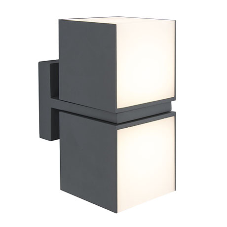 Revive Outdoor Twin Rotatable Dark Grey Wall Light