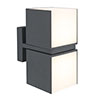 Revive Outdoor Twin Rotatable Dark Grey Wall Light profile small image view 1