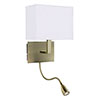 Revive Antique Brass Adjustable Wall Light profile small image view 1