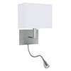 Revive Silver Adjustable Bedroom Wall Light profile small image view 1