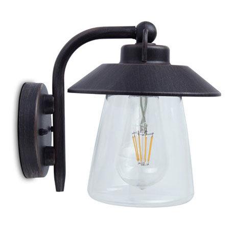 Revive Outdoor Vintage Black Bronze Down Lantern