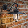 Revive Outdoor Traditional Black Coach Lantern profile small image view 1