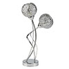 Revive Chrome Fretwork Twin Table Lamp profile small image view 1