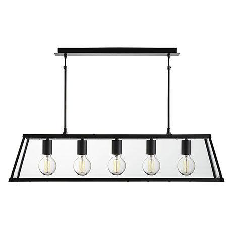 Revive Matt Black 5 Light Lantern Bar Light