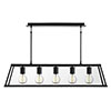 Revive Matt Black Lantern Bar Ceiling Light - 5 Light profile small image view 1
