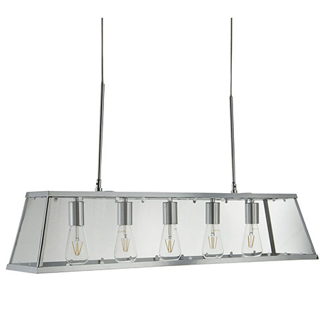 Revive Chrome 5 Light Lantern Bar Light