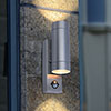 Revive Outdoor PIR Modern Stainless Steel Up & Down Wall Light profile small image view 1