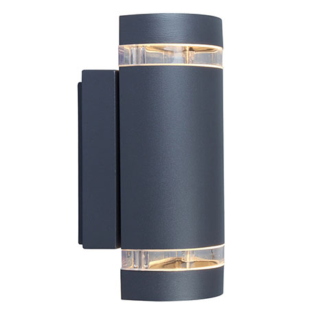 Revive Outdoor Up & Down Dark Grey Wall Light