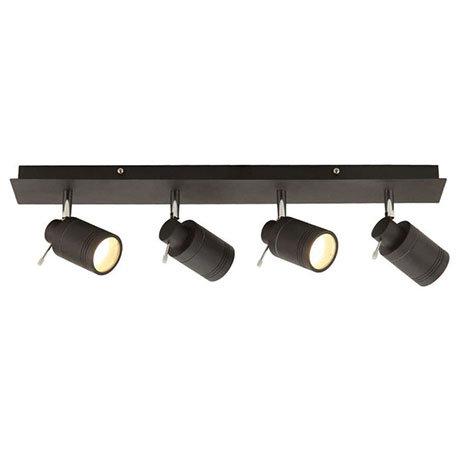 Revive Matt Black 4 Light Bar Bathroom Spotlight