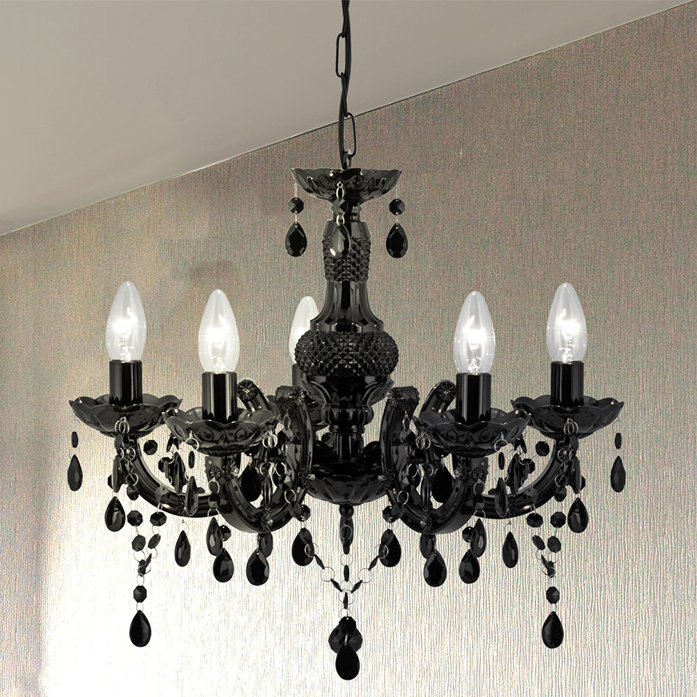 Revive Black 5-Light Chandelier Ceiling Fitting