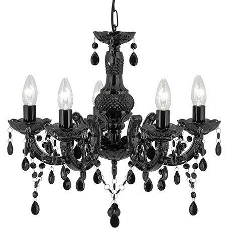 Revive Black 5-Light Chandelier Ceiling Fitting